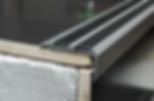 Порог угловой Серебро матовое