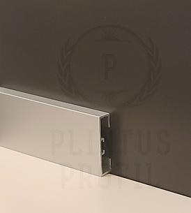 Плинтус алюминиевый прямоугольный 40мм - 3.00м серебро матовое.