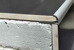 J образный профиль Серебро матовое