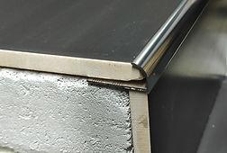 J образный профиль Серебро глянцевое
