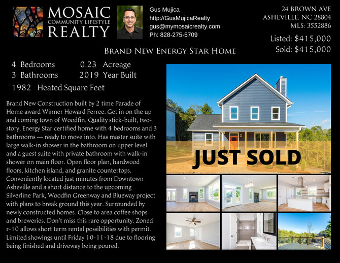 Just Sold - Brand New Energy Star Home