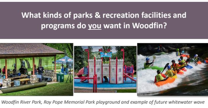 What types of parks and recreation facilities do you want in Woodfin? Let Town leaders know !