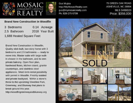SOLD- Brand New Construction in Woodfin