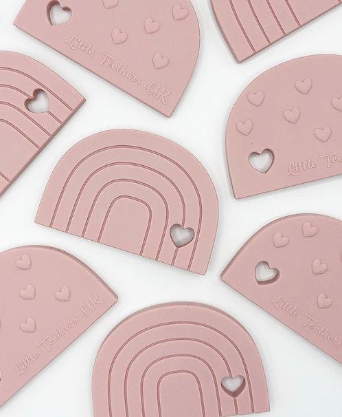 Dusky Pink Rainbow Teething Toy