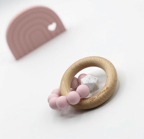 Dusky Pink Teething Ring