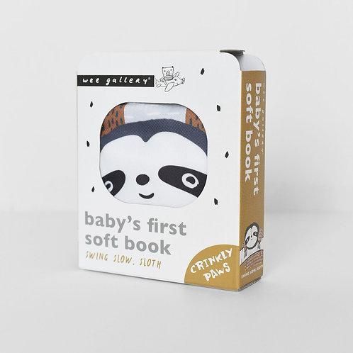 Soft Cloth Book - Swing, Slow Sloth