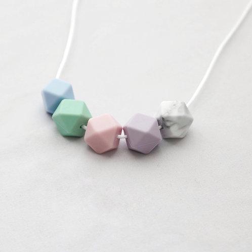 Iris Teething Necklace in Pastel Mix