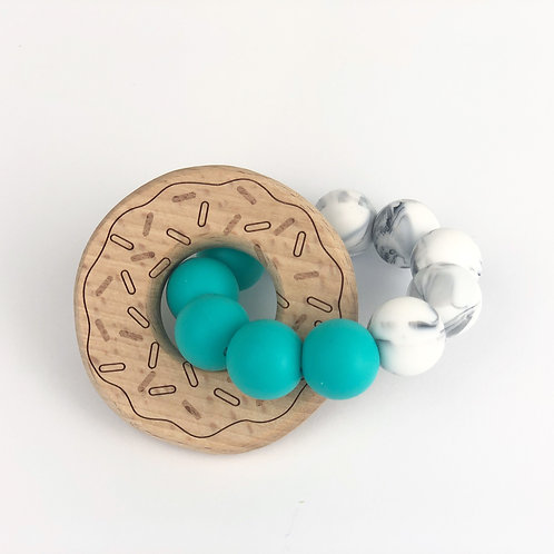 SALE Donut Teething Ring Turquoise