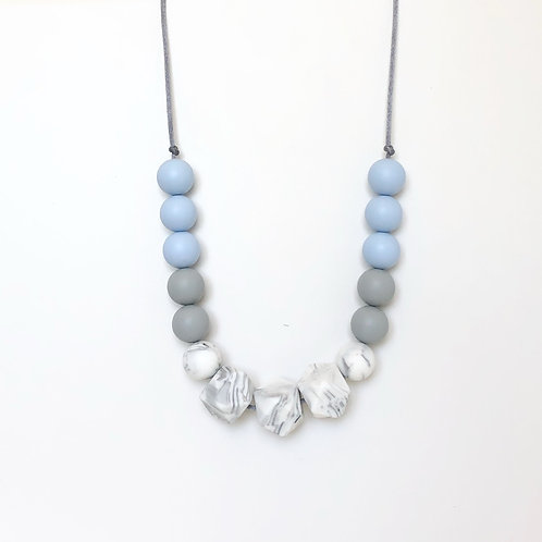 Isla Teething Necklace - Serenity Blue