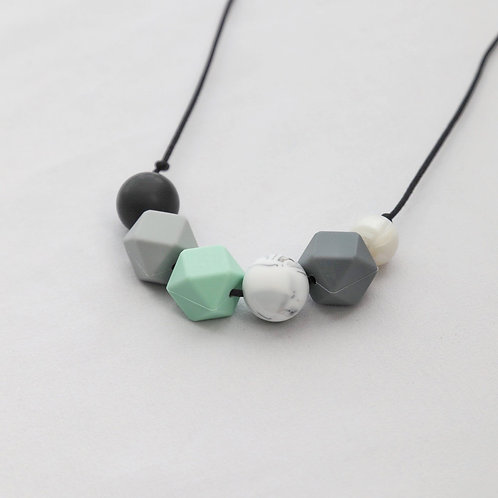 Sienna Mint & Marble Teething Necklace