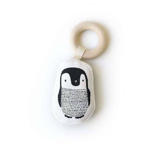 Organic Teething Ring - Penguin