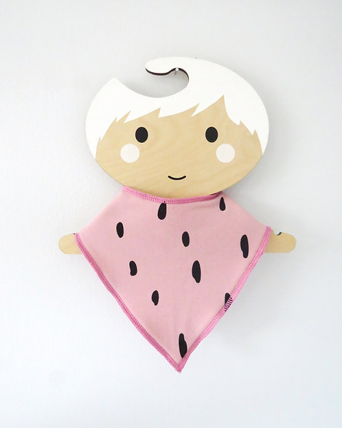 Pink Spotted Dribble Bib