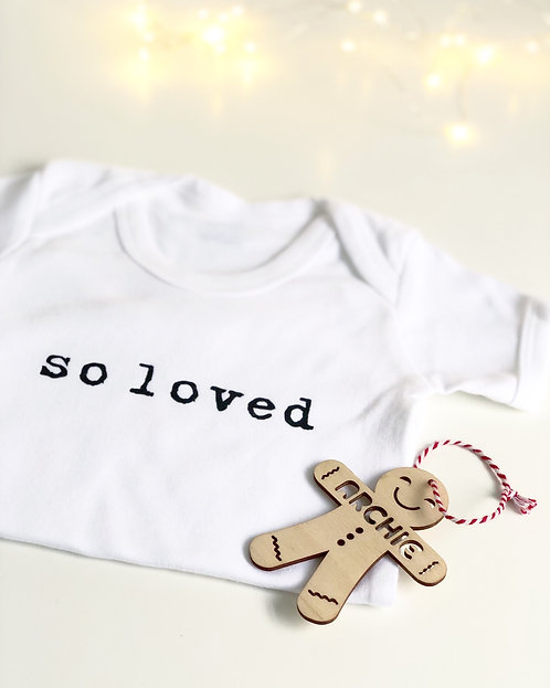 'So Loved' Baby Vest