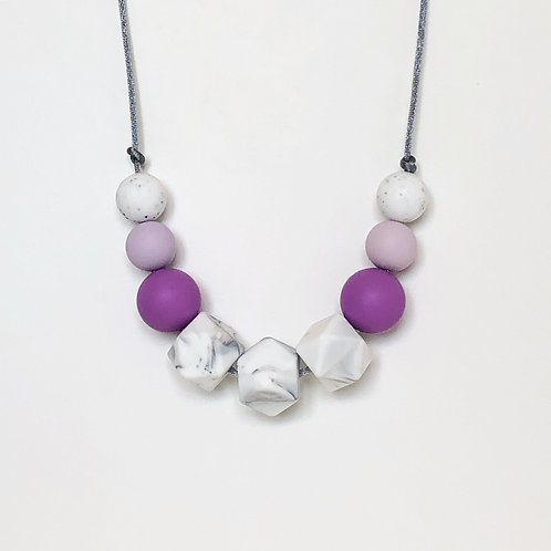 Olivia Teething Necklace in Lilac and Purple