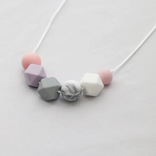 Sienna Soft Pink Teething Necklace