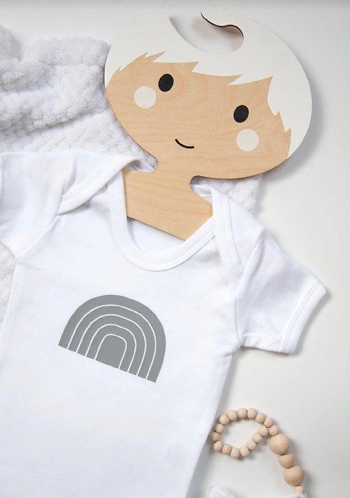 Grey Rainbow Baby Vest