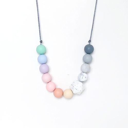 Pastel Rainbow Teething Necklace