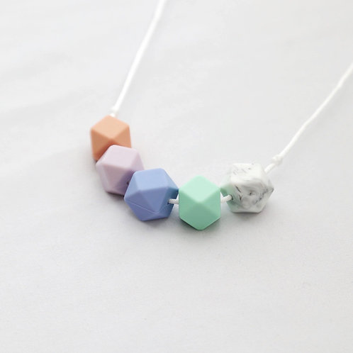 Iris Teething Necklace in Bright Mix