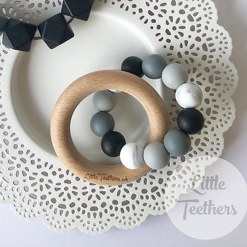 Monochrome Teething Ring