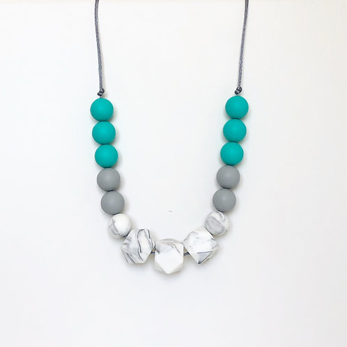 Isla Teething Necklace - Turquoise
