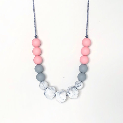 Isla Teething Necklace - Rose