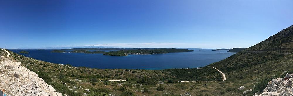 Panorama view from Dugi Otok to Rava Island
