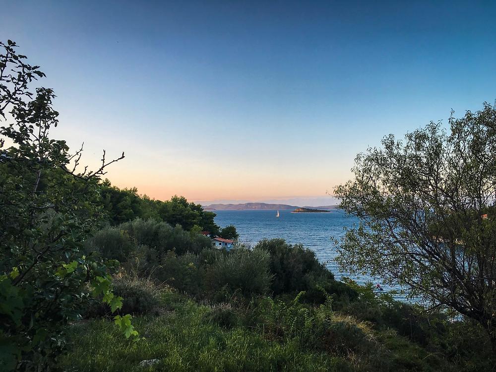 Beautiful sunset at Sascica Bay, Dugi Otok