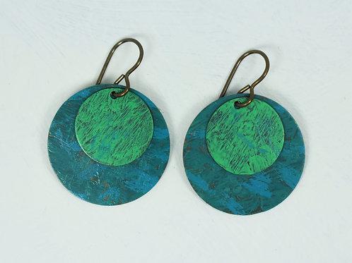 Patina Brass Earrings
