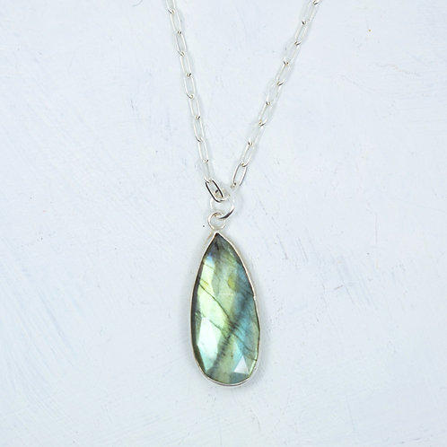 Iridescent Labradorite Sterling Necklace