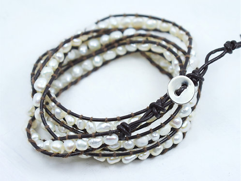 Freshwater Pearl Wrap Bracelet