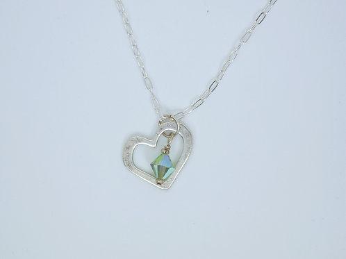 Birthstone Swarovski Heart Necklace