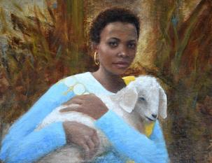 Tanzanian Woman with Goat
