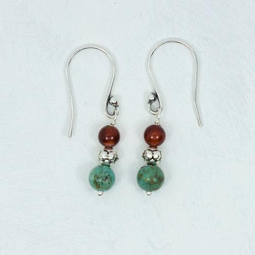 Turquoise and Carnelian