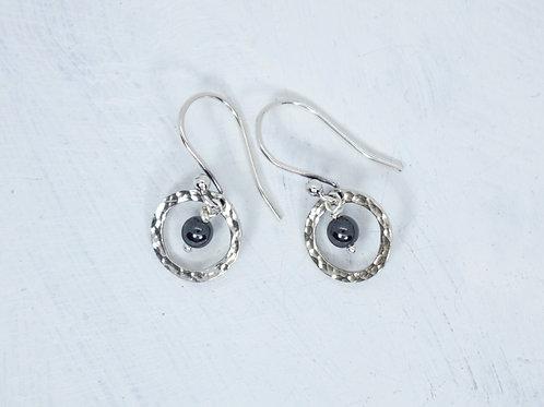 Hemalyke Sterling Circle Earrings