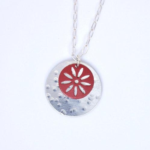 Sunburst Hammered Necklace