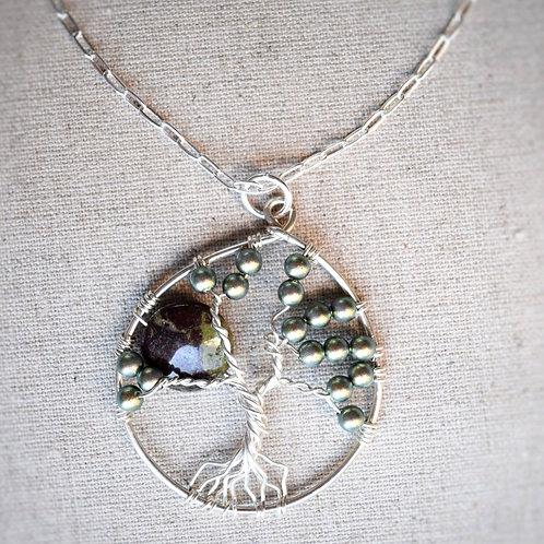 Jasper and Swarovski Tree of Life