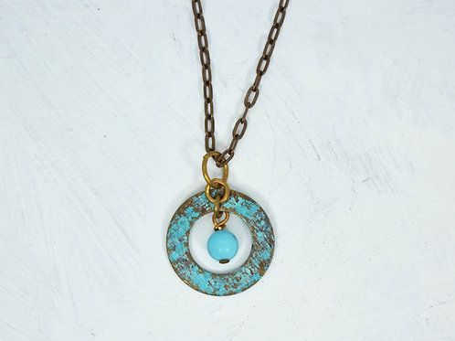 Rustic Imperial Turquoise Necklace