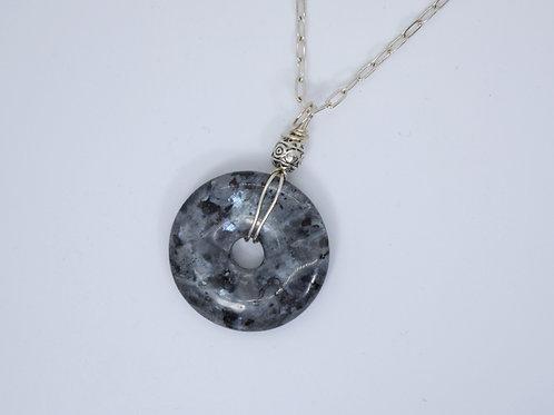 Labradorite Circle Necklace