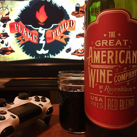 THE FLAME IN THE FLOOD & THE GREAT AMERICAN WINE COMPANY RED BLEND