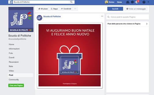 Facebook post Natale