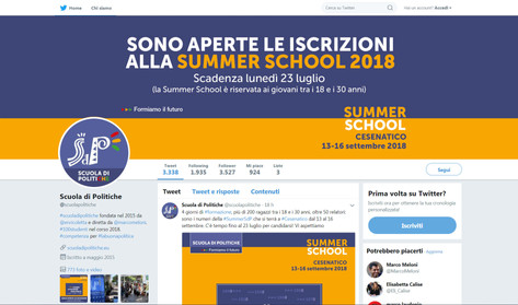 campagna social Summer school 2018
