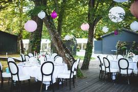 Mariage repas en plein air