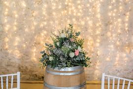 Tonneau , fleurs et mariage