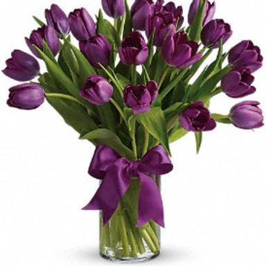 Arreglo De 20 Tulipanes Holandeses Morados V Flores Y Dulces