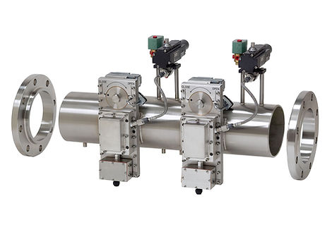 Custom Industrial Dual Pipe Section Refractometer sensors and ball valves installed