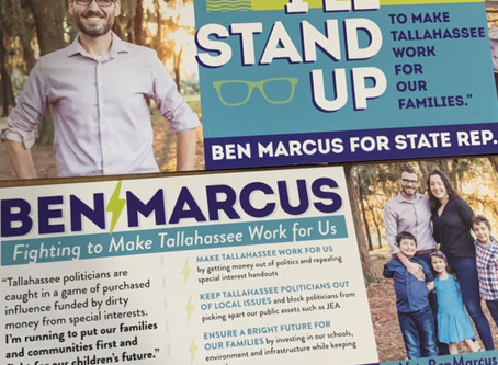 FIRST 30 DAYS OF BEN MARCUS FOR STATE HOUSE DISTRICT 16 CAMPAIGN SEES HUNDREDS OF DONORS, PETITIONS