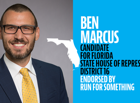 Run for Something endorses Ben Marcus for Florida State House, District 16