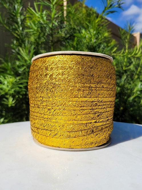 Metallic Yellow Bias 288YDS