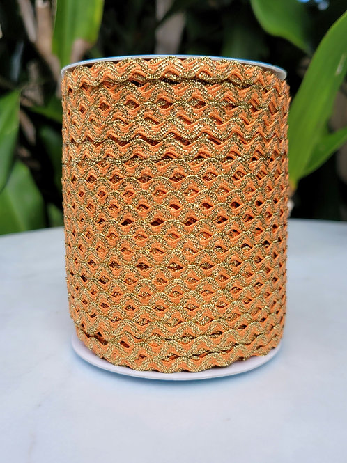 Orange w/Metallic Gold - 109 yards