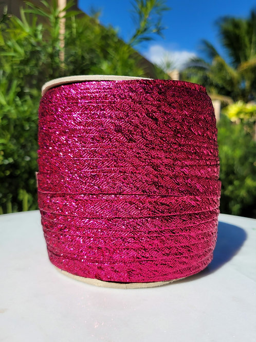 Metallic Hot Pink Bias 288YDS